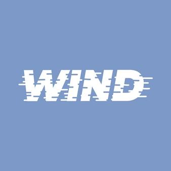 Palabra de letras de viento