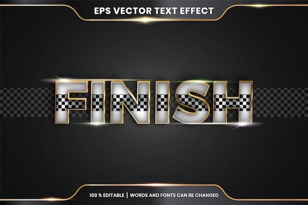 Palabras finales, efecto de texto editable
