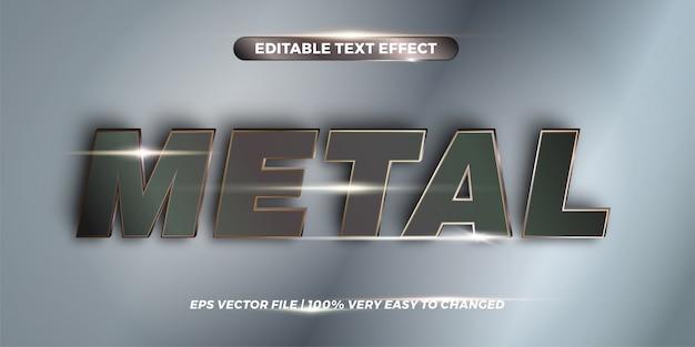 Palabras de metal, concepto de estilo de efecto de texto