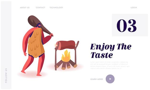 Paleo dieta de personas que vivieron en la página de destino del sitio web anterior.
