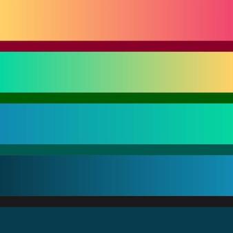 Paleta de colores diseño degradado colorido