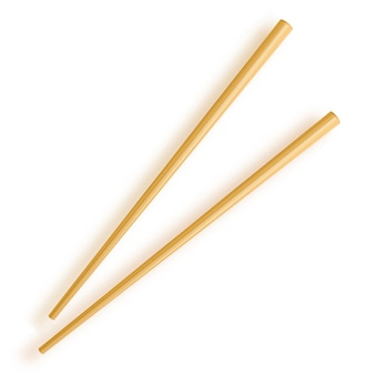 Palillos. palillos de madera aislados sobre fondo blanco.