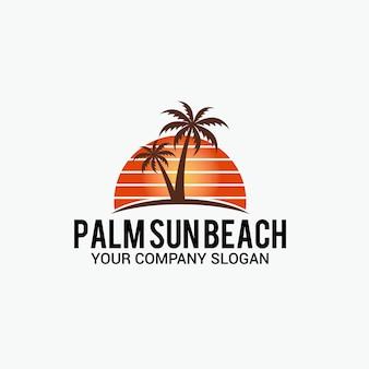 Palm sun beach logotipo