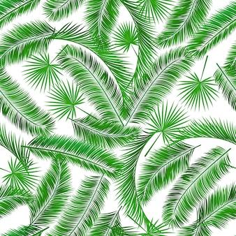 Palmera tropical sin costura patrón de fondo de patrón