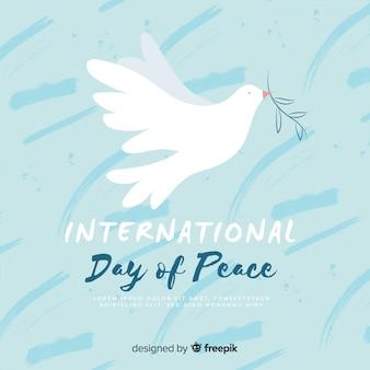 Paloma del día de la paz dibujada a mano