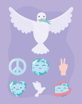 Paloma y paz mundial