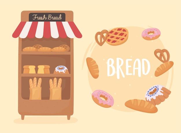 Pan de diferentes productos