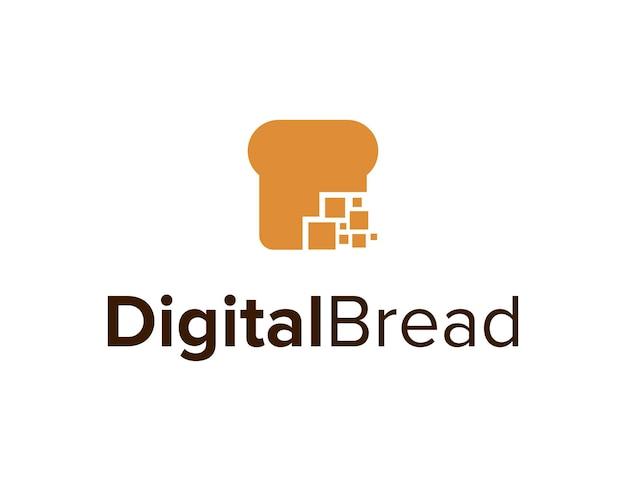 Pan digital cuadrado simple elegante creativo geométrico moderno diseño de logotipo