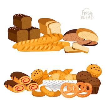 Pan fresco en blanco
