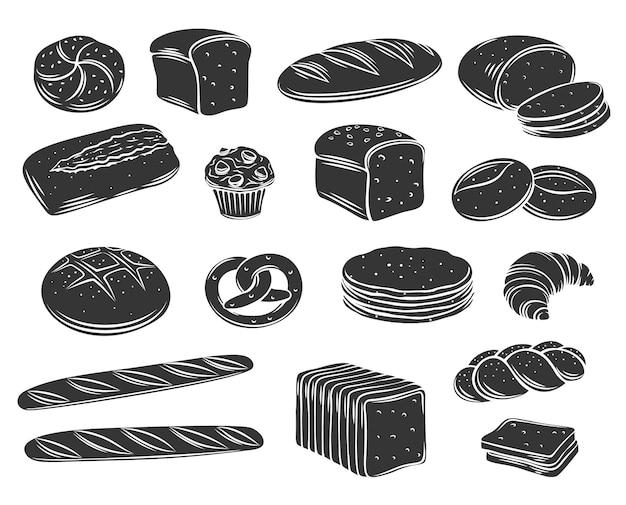 Pan de panadería de centeno hermosa ilustración