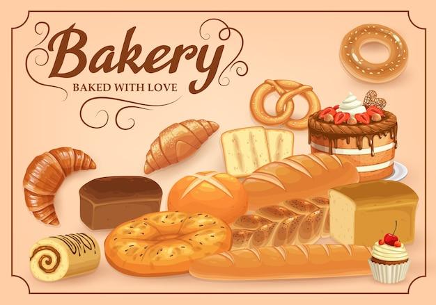 Pan de productos de panadería