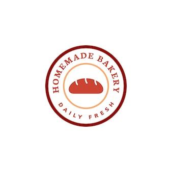 Panadería casera banner icono ilustración