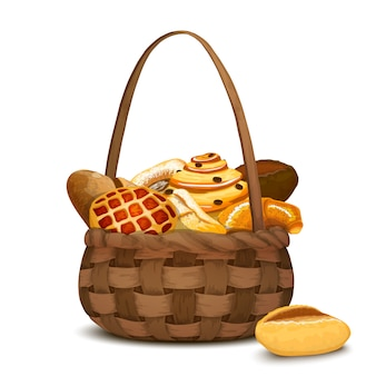 Panadería en la cesta