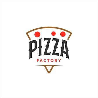 Panadería diseño logo pizza