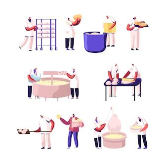 Panadería y fábrica de quesos, conjunto de producción de alimentos.