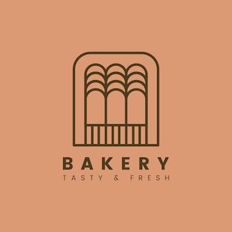 Panadería fresca pastelería vector logo