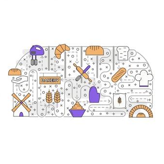 Panadería, panadería, panadería o confitería creativa