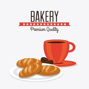 Panadería, postre y diseño de barra de leche.