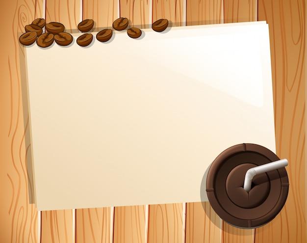 Pancarta y cafe