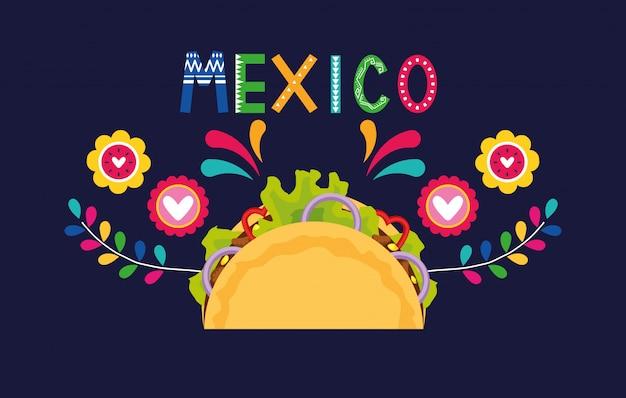 Pancarta de comida de mexico