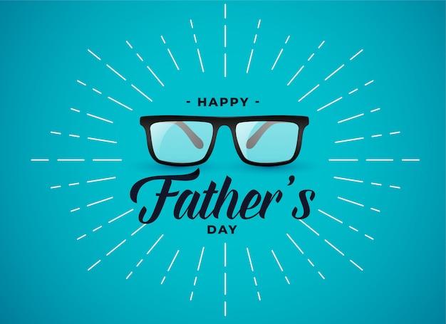 Pancarta del día de padres felices con gafas