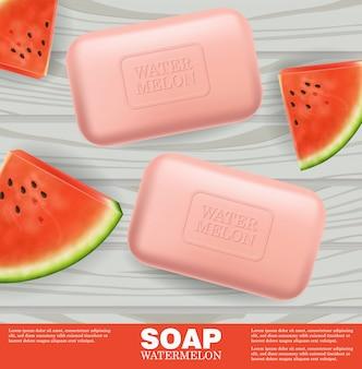 Pancarta de jabón con sabor a sandía