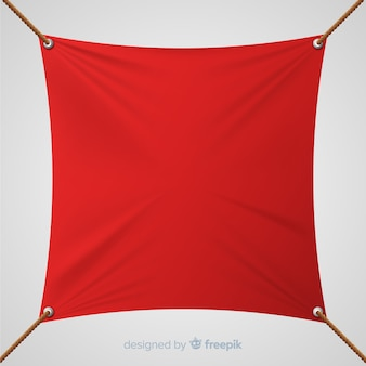 Pancarta letrero textil