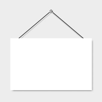 Pancarta o póster en blanco. marco de la foto