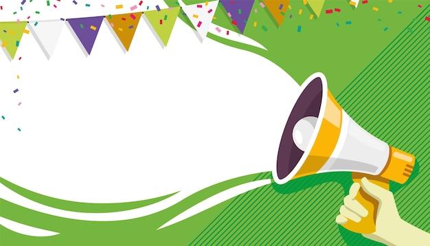 Pancarta o póster de gran inauguración de invitación