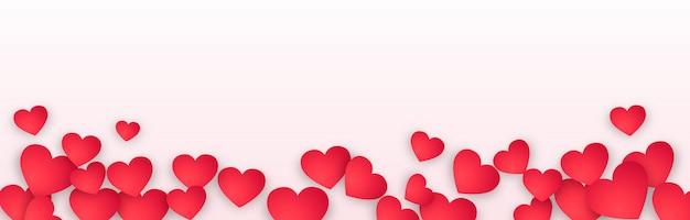 Pancarta panorámica del día de san valentín