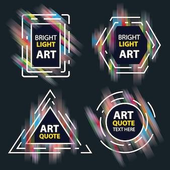 Pancartas abstractas con luz brillante detallada