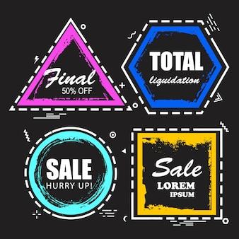 Pancartas abstractas de diferentes formas
