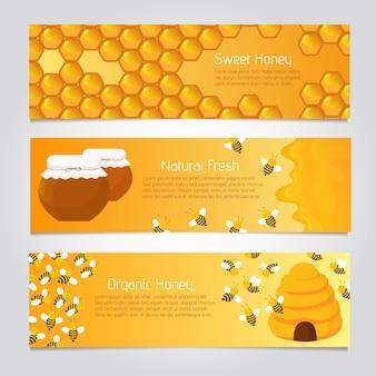 Pancartas de miel