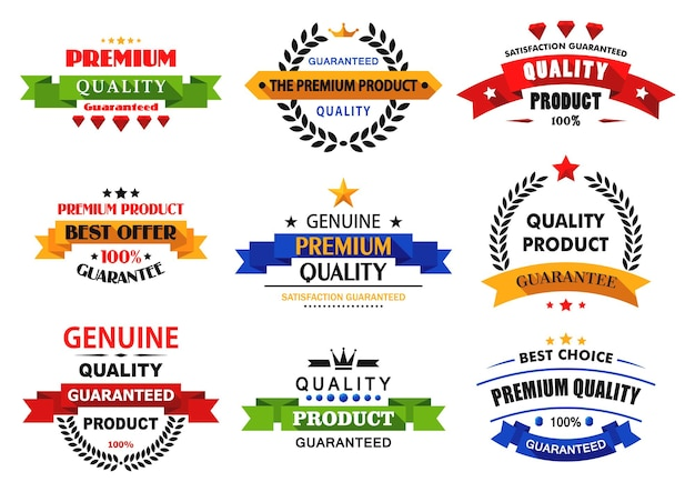 Pancartas planas, emblemas y etiquetas con largas sombras para diseño minorista y de venta