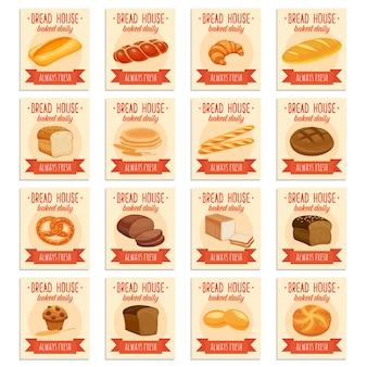 Pancartas de productos de pan