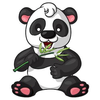 Panda de dibujos animados lindo