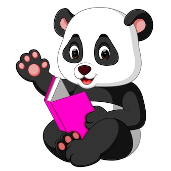 Panda leyendo un libro