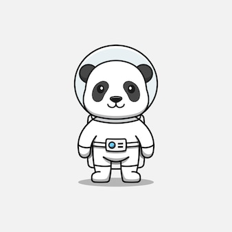 Panda lindo con traje de astronauta