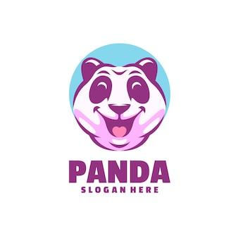 Panda logo aislado en blanco