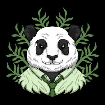 Panda trabajo de dibujos animados