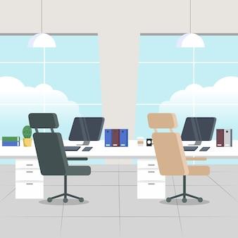 Pandemia concepto oficina vacía