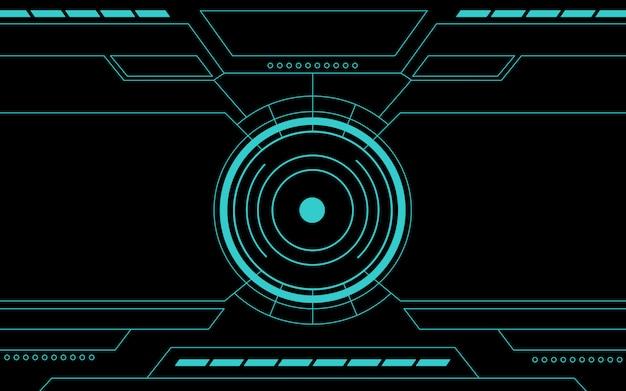 Panel de control azul abstracto tecnología