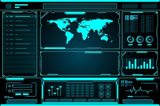 Panel de control futurista