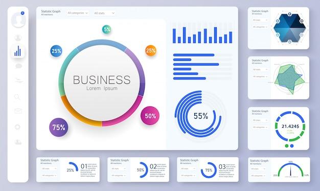Panel de control, ideal para cualquier propósito del sitio. tablero informativo y simple.