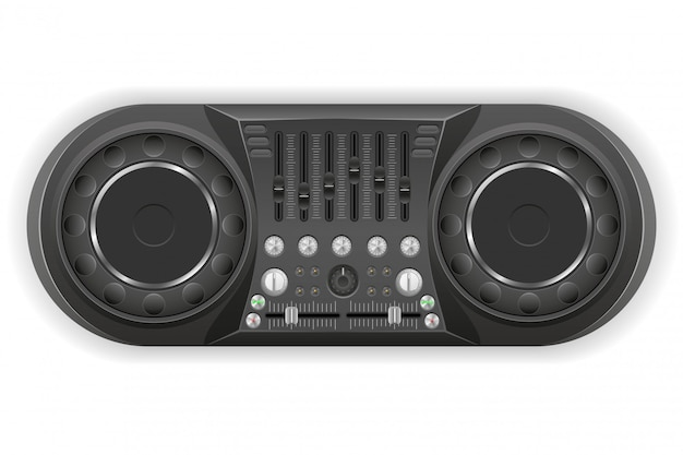 Panel dj consola mezclador de sonido ilustración vectorial