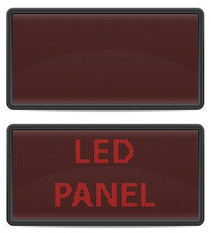 Panel led de marcador digital.