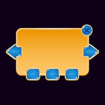 Panel de marco emergente gui golden jelly board