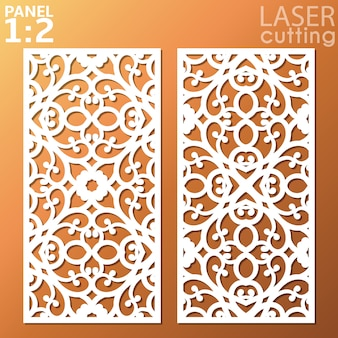 Panel ornamental de metal cortado con láser.