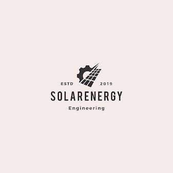 Panel solar del servicio energético del logotipo.