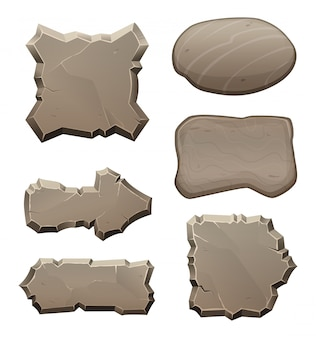 Paneles de piedras y rocas.
